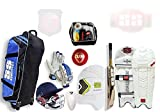SS Complete Senior Players Batsman Cricket Kit Package English Willow Bat (Bat Care Kit Free) +Fast Delivery
