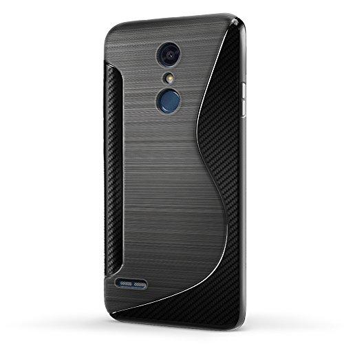SLEO Hülle für LG K30 2018 / LG K11 / LG K10 2018 Hülle, Silikon Case Hochwertig TPU Gel matt Anti Rutsch Schutzhülle Translucent - Schwarz