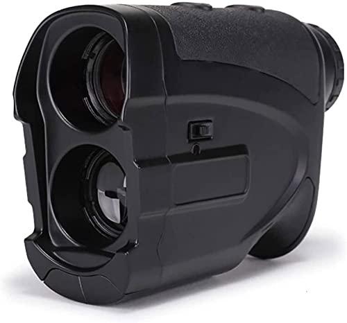YUYANDE Finder de Rango láser, cámara de Rango Multifuncional, buscador de Rango láser 1000m, Aumento de 7X, Jugar al Golf, Tiro Objetivo y Caza (Color : Black)