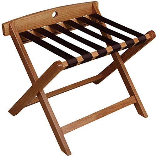 %42 OFF! HOMRanger Room Luggage Holder, Hotel Solid Wood Folding Luggage Rack, Travel Break Folding Stool -23.618.120.5in.