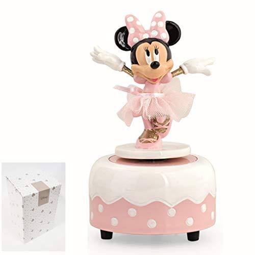 Formoso Bomboniera Decorazione Carillon Minnie Ballerina Disney Rosa Con Scatola D 90Xh13,9 Cm Art 69560