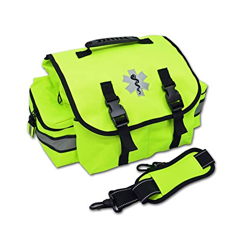 Lightning X Small EMT Medic First Responder Trauma EMS Jump Bag w/Dividers (Fluorescent Yellow)