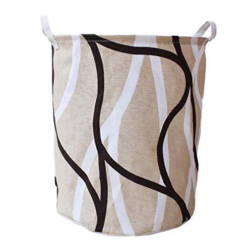 AYCPG Cesta para la colada, 40 x 50 cm, plegable, color beige, cesta de almacenamiento geométrica, para ropa sucia, juguetes, artículos de vestir, cubo de almacenamiento impermeable grande