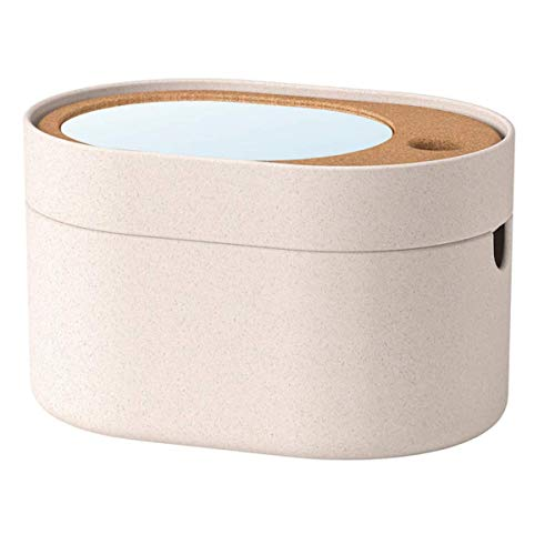 yx SAXBORGA Kasten mit Spiegeldeckel, Kunststoff Kork24x17 cm