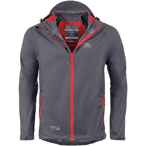 Highlander Waterproof Packaway Jacket - Manteau de pluie léger pour hommes, femmes et enfants - Mac léger et respirant qui se range dans son propre sac pratique - The Stow & Go (Charbon, XS)