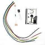 Sensor PM2.5, módulo del sensor Pm2.5 Purificador de aire y polvo Componentes electrónicos del sistema comúnmente GP2Y1014AU0F para detectar la calidad del aire