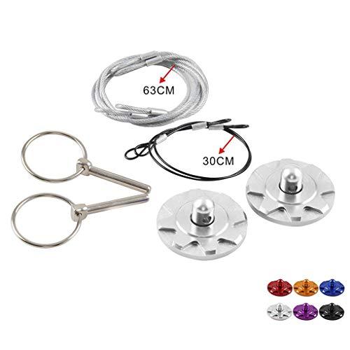 Universele zilveren racewagen motorkap aluminium slot kit motorkap pin klink set auto accessoires