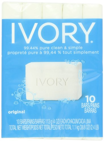 Ivory Original 10-Count: Bath Size Bars (4 Oz), 38.8 Ounce by Ivory
