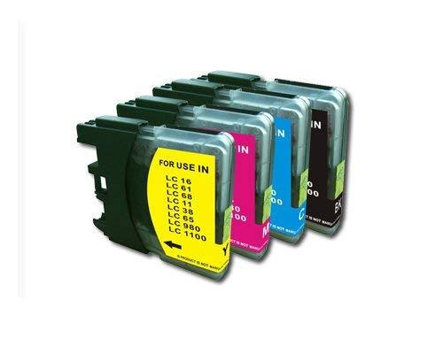 Reinigungspatronen Set kompatibel für Brother MFC 250C/ 290C/ 490CW/ 5490CN/ 5890CN/ 6490CW/ 790CW/ 990CW/ 6690CW/ DCP145C/ 165C/ 385C, schwarz, Cyan, Magenta, Yellow