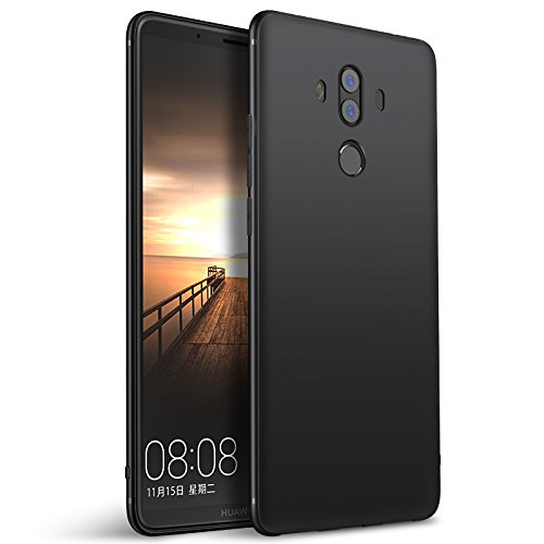 Olliwon Huawei Mate 10 Pro Hülle, Dünn Leichte Schutzhülle Schwarz Silikon TPU Bumper Hülle Cover für Huawei Mate 10 Pro -Schwarz
