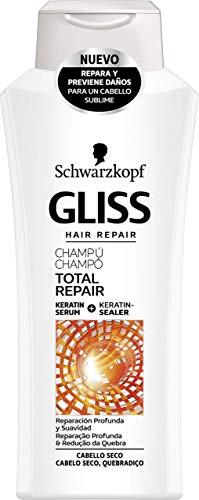 Gliss - Champú Total Repair - Previene daños en el cabello aportando suavidad - 400ml - Schwarzkopf x pack de 3 = 1200ml