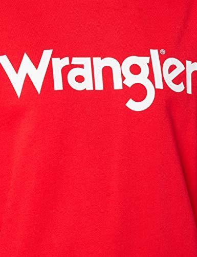 Wrangler Crew Sweat Jersey, Lollipop Red, M para Mujer
