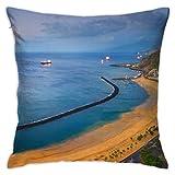 baoan Tenerife Home - Funda de almohada decorativa cuadrada para cojín (45 x 45 cm), diseño de cubitos