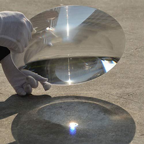 SPRINGHUA 255 mm Grande de plástico óptico de la Lente de Fresnel Solar PMMA Distancia Focal 90 mm 400 mm 1000 mm del Plano Lupa, Lentes Solar Concentradora (Diameter : 255mm, Focal Length : 90mm)