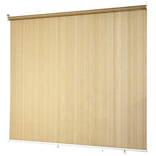 COSTWAY Persiana Opaca Toldo Enrollable con Cadena/Protección Solar/Pantalla de Privacidad para Terraza Patio Oficina (Beige, 181x181cm)