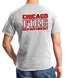 Chicago Fire Dept con aexten e Standard di Emblema feuer1 t-Shirt Navy