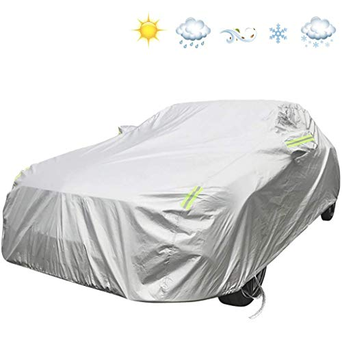 WSJ Auto-Außenverkleidung Kompatibel mit BMW 1er Schrägheck/Limousine Wasserdicht Staubdicht Schneebeständig Frostschutz Atmungsaktiv Samt Vollverkleidung Car Shield Beweglicher Carport