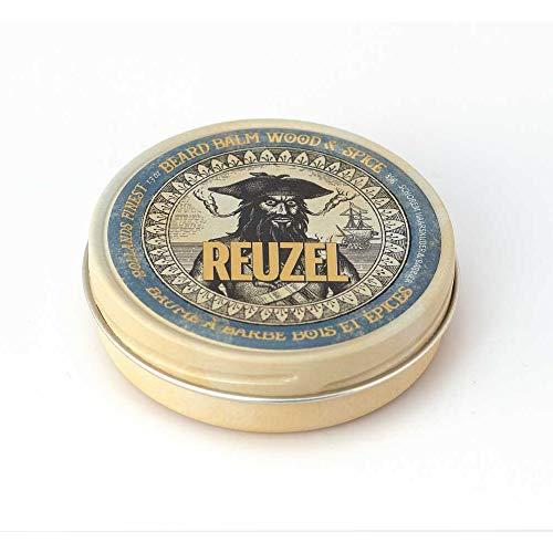 Reuzel - Bálsamo para barba, de madera/especias, para hombre, con hamamelis/aceite de argán/manteca de karité/ortiga/extracto de romero/35 g