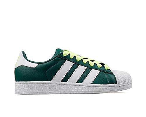 adidas Men's Superstar Gymnastics Shoes, Green (Collegiate Green/Ftwr White/Hi/Res Yellow), 5 UK