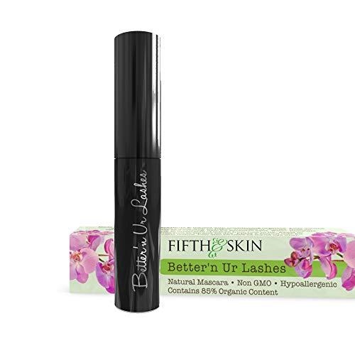 Better'n Ur Lashes Organic Mascara (BLACK) | 100% Natural | Made w Certified Organic Ingredients | Non GMO | Hypoallergenic for Sensitive Eyes | Length & Volume | Vegan | Cruelty Free