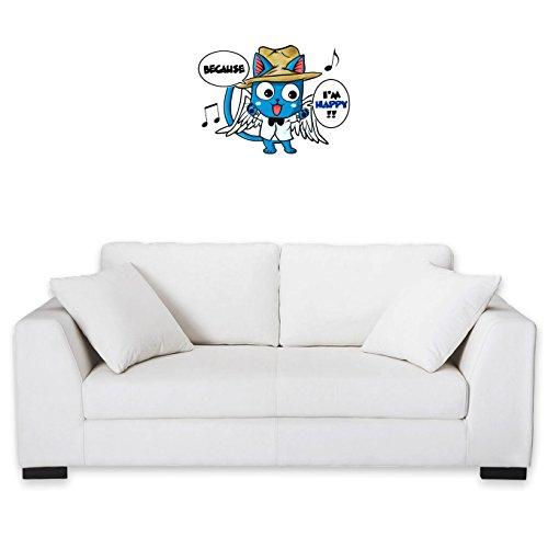 Okiwoki Sticker Mural Fairy Tail parodique Happy : Happy Williams : (Parodie Fairy Tail)