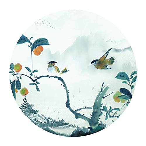 JCOCO Tapis Rond, Fleurs de Jardin Populaire Anti-dérapant Machine de Support (Couleur : #2, Taille : 160 * 160cm)