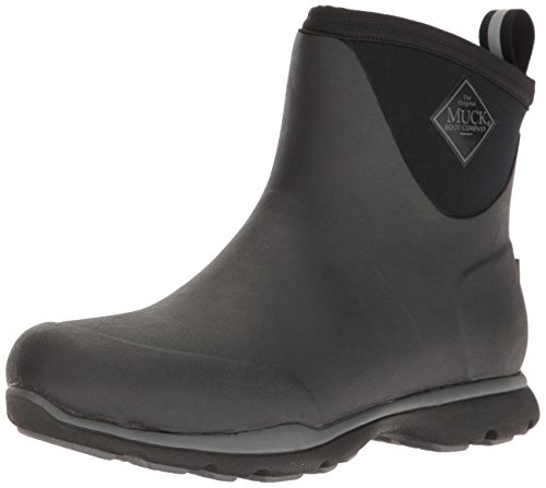 Muck Boot mens Arctic Excursion Ankle Snow Boot, Black, 8-8.5 US