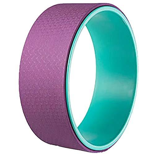 NgMik Rueda de Soporte de Yoga Masajes Yoga Rueda Yoga Círculo Backbend Massage Roller Home Fitness Equipos Dharma Prop rol Trasero (Color : Blue Purple, Size : 13x32.5cm)