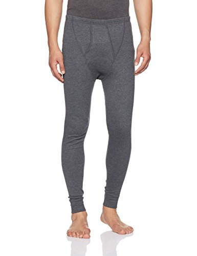 Jockey Men's Cotton Long Pant (2420-0105-CHAML Charcoal Melange L)