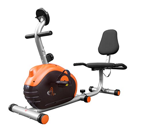 V-Fit Recumbent Magnetic Cycle - Silver Grey / Black