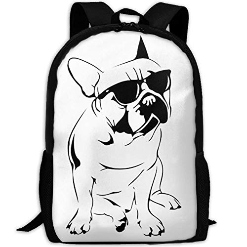 Frenchie French Bulldog Bookbags School Backpack Laptop Schoolbag for Teens Girls Boys High School