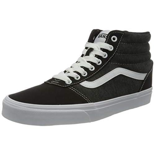 Vans Ward Hi Canvas, Sneaker Uomo, Jersey Nero Bianco, 42 EU