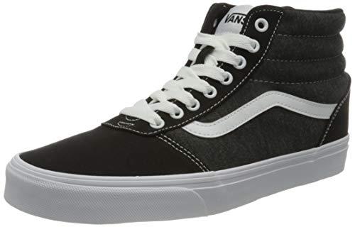Vans Herren Ward HI Canvas Sneaker, Jersey Schwarz Weiß, 48 EU