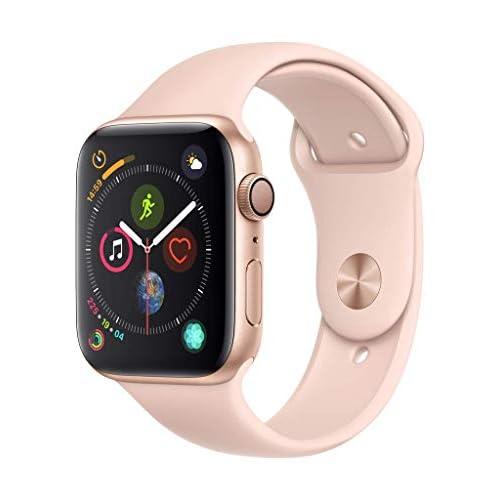 AppleWatch Series4 (GPS) cassa 44mm in alluminio color oro eApple Watch Cinturino Sport rosa sabbia