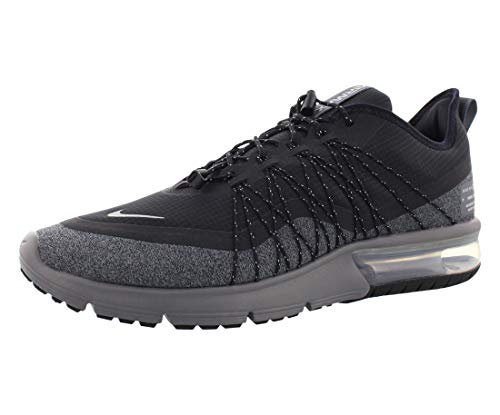 Nike Air Max Sequent 4 Utility Men's Shoes Size 9 Black/Metallic Silver