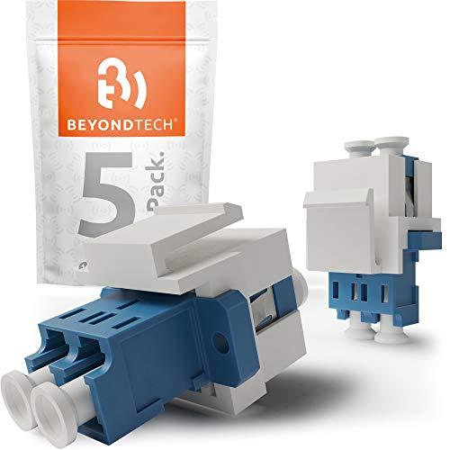 Adaptateur fibre optique LC (femelle) vers LC monomode UPC Keystone – Lot de 5 – Beyondtech Fibre optique Extender/coupleurs de fibre optique
