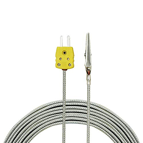 0.1mm Diameter PerfectPrime TL0201 K-Type Sensor Probe for K-Type Thermocouple Thermometer//Meter in Temperature Range from up to 200 /°C// 392/°F