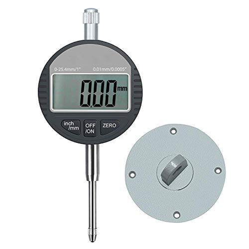 AUTOUTLET デジタルダイヤルゲージ ダイヤルインジケーター 0.01mm / 0.0005 ''範囲 DTI 25.4mm / 1 ''クロックゲージ 高精度 測定産業用 アルミ合金製