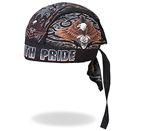 Hot Leathers Authentic Bikers Premium Headwraps, RIDE WITH PRIDE Micro-Fiber & Mesh Lining HEADWRAP