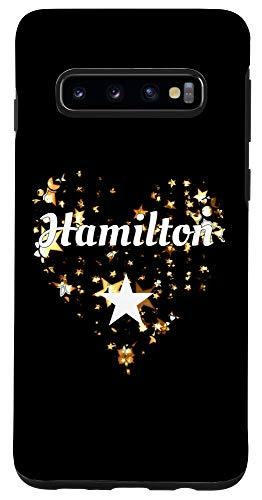 Galaxy S10 I Love Hamilton Heart Case