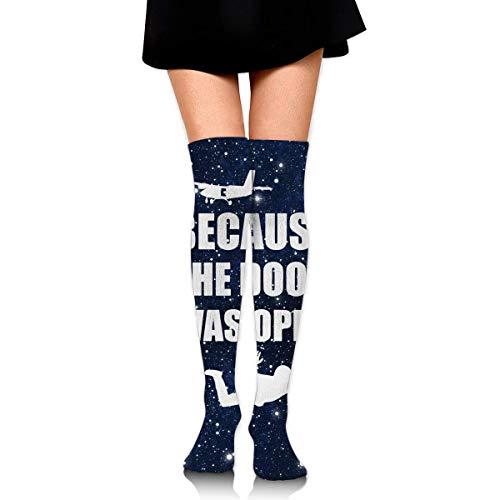 Nice-Guy Fallschirmspringen, weil die Tür offen war Fallschirmspringer Damenstiefel Oberschenkel Hohe Socken über dem Knie Hoher Strumpf