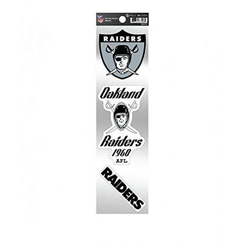 8cm! 2Stück! Klebe-Folie Wetterfest Made-IN-Germany Oakland Raiders NFL Football UV&Waschanlagenfest Auto-Aufkleber Profi-Qualität! F196
