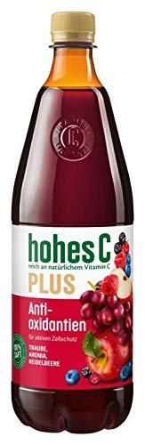 hohes C Plus Antioxidantien - 100{4679a17eda633c18e54c6345165e4035544ae5af284f420bec446466c75db78a} Saft, 1 l