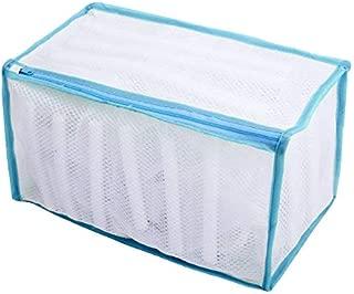 洗濯ネット (シューズ洗濯ネット)シューズ丸洗い専用ネット 毛布 洗える メッシュ 袋(ブルー)