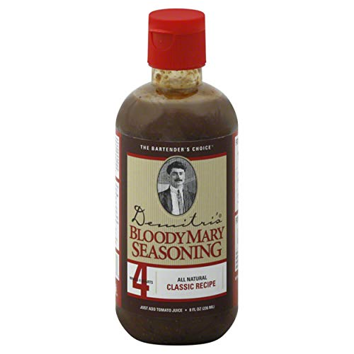 Demitris Bloody Mary Cocktail Mix Liquid, 8 Fluid Ounce