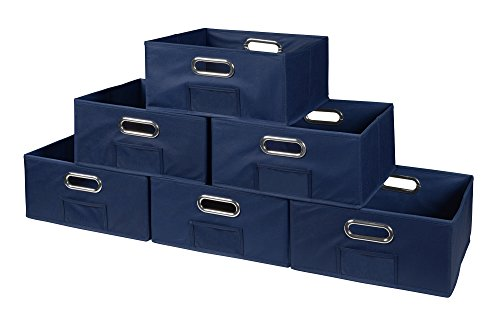 Niche Cubo Half-Size Foldable Fabric Storage Bins (Set of 6), Blue