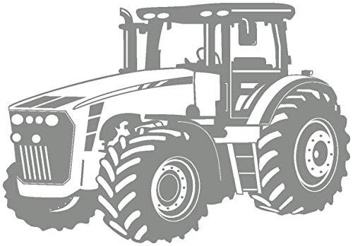 Samunshi® Wandtattoo Trecker Traktor in 8 Größen & 20 Farben (30x21cm Mittelgrau)