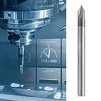 面取りエンドミル、面取りデザインワンピースデザイン3フルート面取りフライスカッターCNC彫刻用耐久性フライスビットを彫刻する(D4*60°*50L)