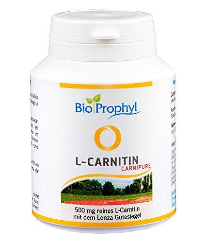 BioProphyl® L-Carnipure Carnitin mit Lonza Gütesiegel - 100{8995e7aa6746f655217a9dc24997aeb677d9cedd4aed73bfae022e4e95423017} reines L-Carnitin ohne D-Form - zertifiziert - 60 vegetarische Kapseln