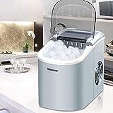 JISHIYU Fabricante Totalmente automático pequeño Cubo de Hielo, Hielo 15kg / Manual de Escritorio 24h, Bar cafetería refrigerador pequeño Cubo Que Hace la máquina (Color : Silver)
